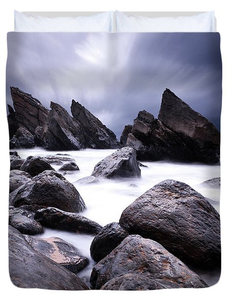 Flowing Duvet Cover by Jorge Maia