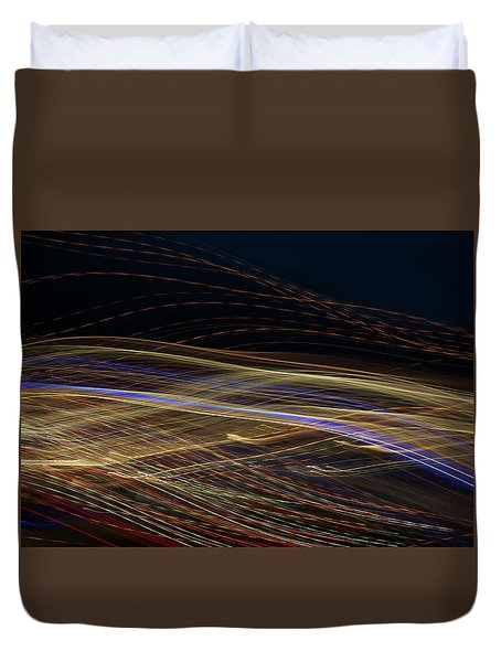 Duvet Cover featuring the photograph Flowing by Michael Lucarelli