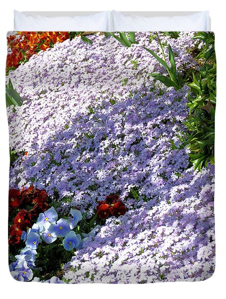 Flowing Phlox Duvet Cover by Jan Amiss Photography