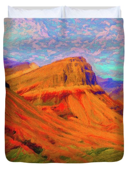 Flowing Rock Duvet Cover by Chuck Mountain