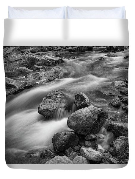 Duvet Cover featuring the photograph Flowing Rocks by James BO Insogna