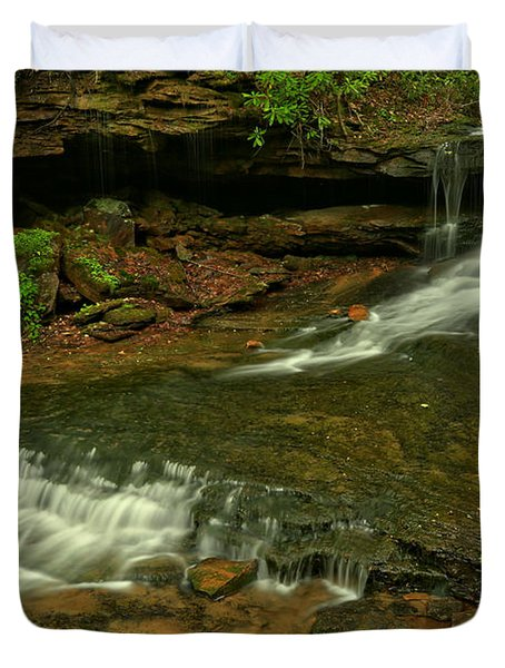 Flowing Through The Forbes State Forest Duvet Cover