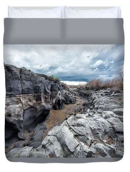 Flowing To The Storm Idaho Journey Landscape Art By Kaylyn Franks Duvet Cover