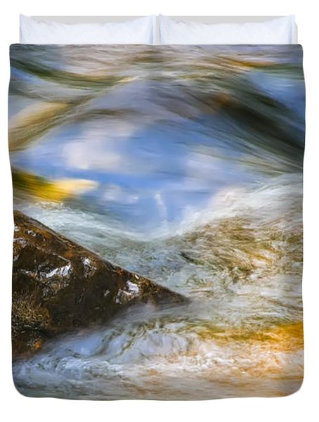 Flowing Water Duvet Cover by Adam Romanowicz