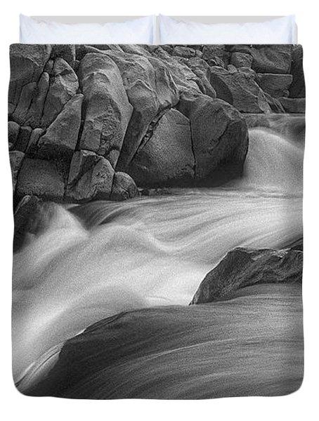 Flowing Waters At Kern River, California Duvet Cover