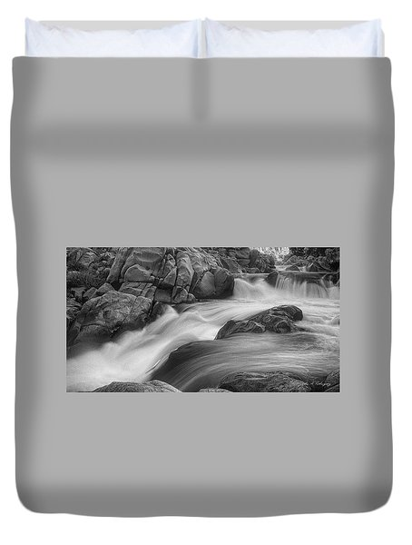 Flowing Waters At Kern River, California Duvet Cover