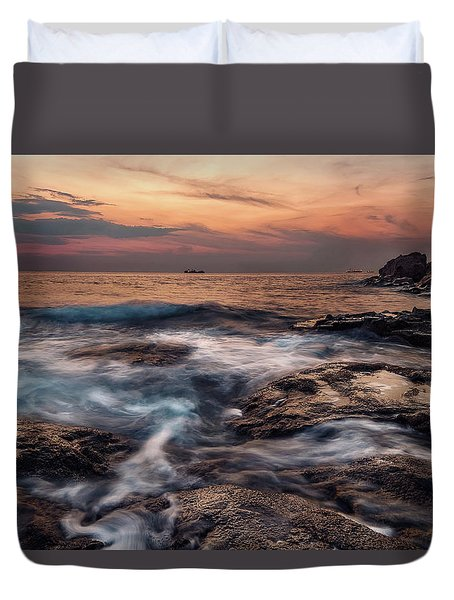 Flowing Waters Duvet Cover
