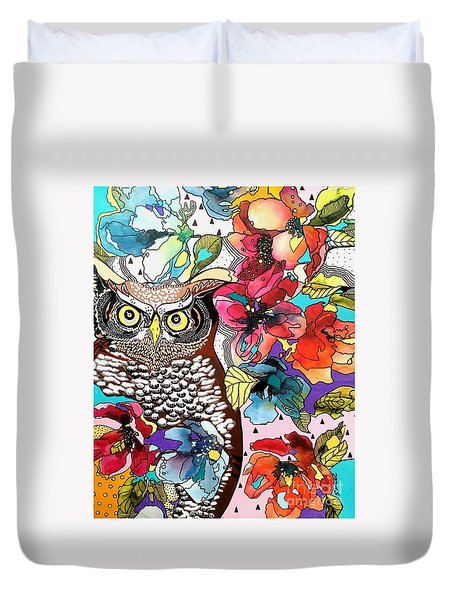 flOWLers Duvet Cover by Amy Sorrell