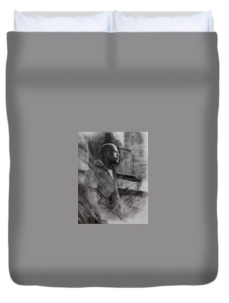 Reflections Of Floyd Mayweather Duvet Cover