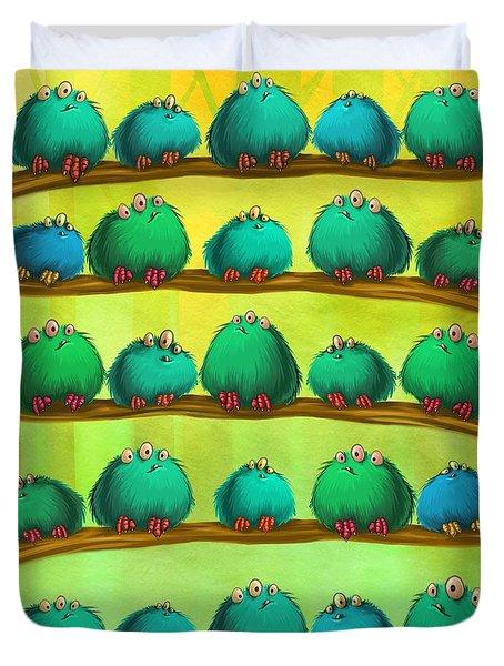 Fluff Rows Duvet Cover