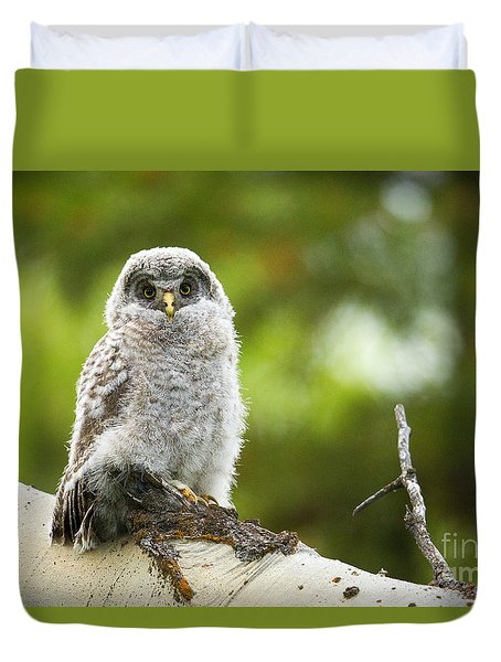 Duvet Cover featuring the photograph Fluffy by Aaron Whittemore