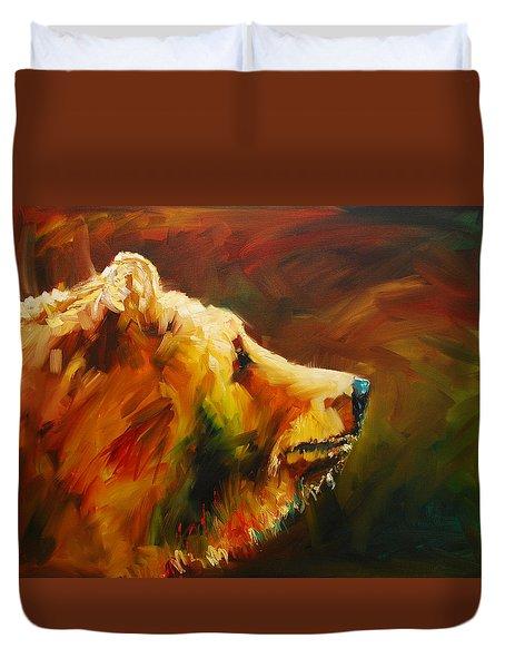 Fluffy Bear Duvet Cover