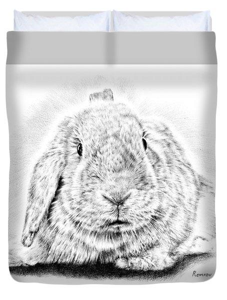 Fluffy Bunny Duvet Cover