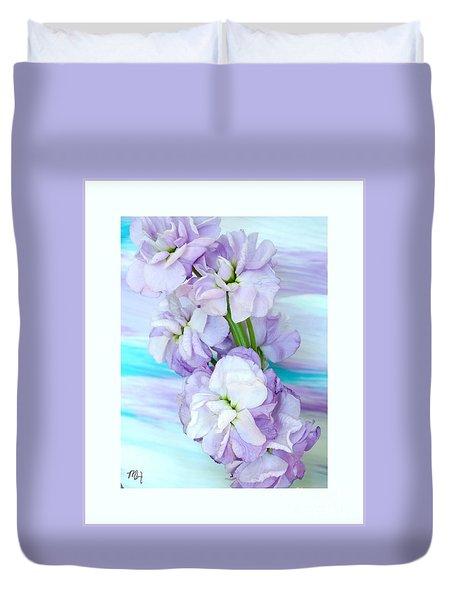 Fluffy Flowers Duvet Cover by Marsha Heiken