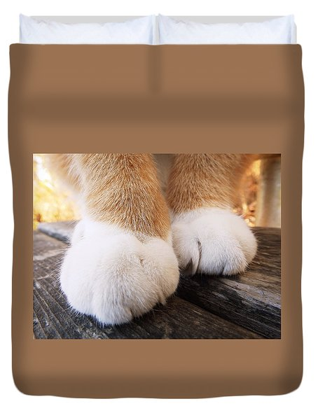 Fluffy Paws Duvet Cover