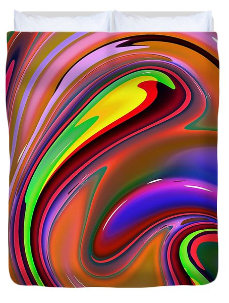 Fluid Colour Duvet Cover by Robert Burns