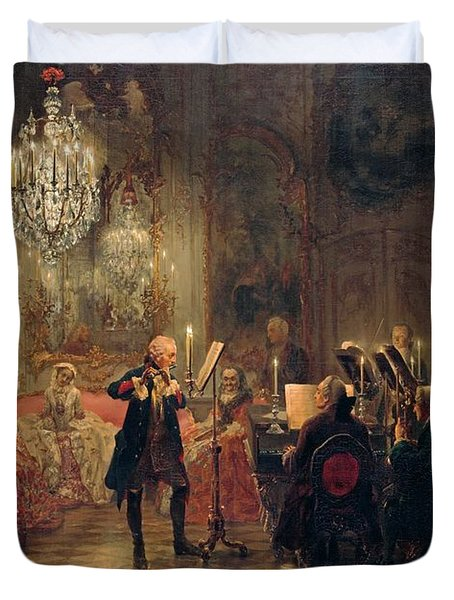 Flute Concert With Frederick The Great In Sanssouci Duvet Cover