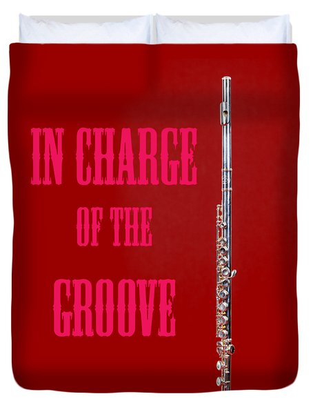 Flute In Charge Of The Groove 5528.02 Duvet Cover