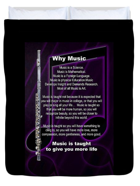 Flute Why Music Photographs Or Pictures For T-shirts 4824.02 Duvet Cover by M K  Miller