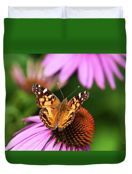 Fluttering Breeze Butterfly Duvet Cover by Christina Rollo