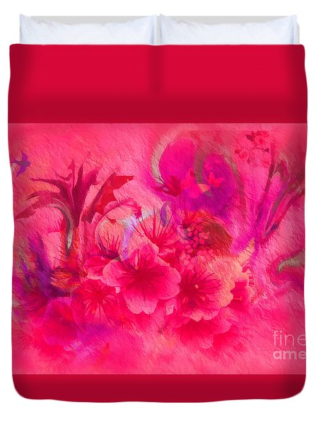 Flower Art Pinky Pink  Duvet Cover