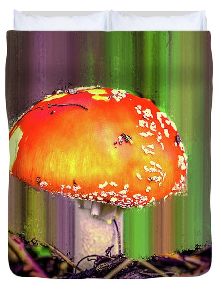 Duvet Cover featuring the photograph Fly Agaric #g7 by Leif Sohlman