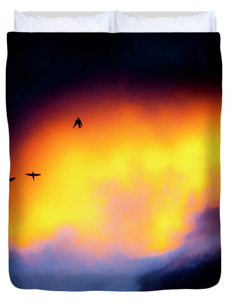 Duvet Cover featuring the photograph Fly Away by Eric Christopher Jackson
