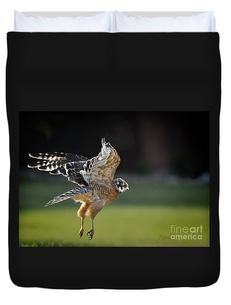 Duvet Cover featuring the photograph Fly Away by Nava Thompson