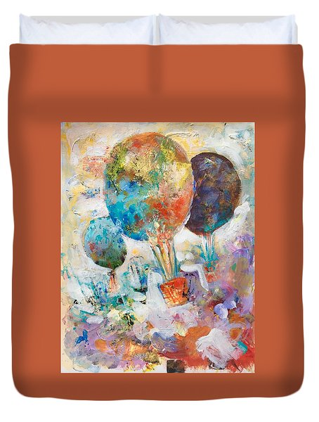 Fly Away To Creativity Duvet Cover