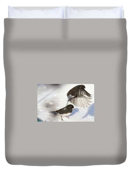 Duvet Cover featuring the photograph Fly By by Gary Wightman