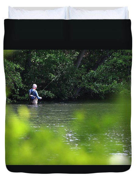 Fly Fishing Smithtown New York Duvet Cover