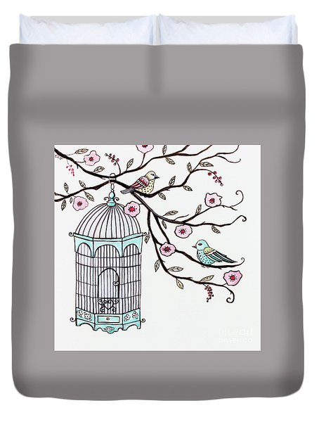 Fly Free Duvet Cover by Elizabeth Robinette Tyndall