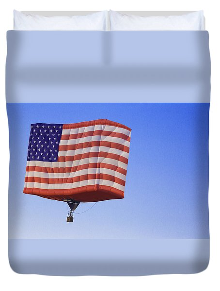 Fly High American Flag Duvet Cover