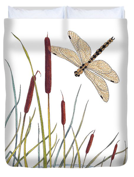 Fly High Dragonfly Duvet Cover by Stanza Widen