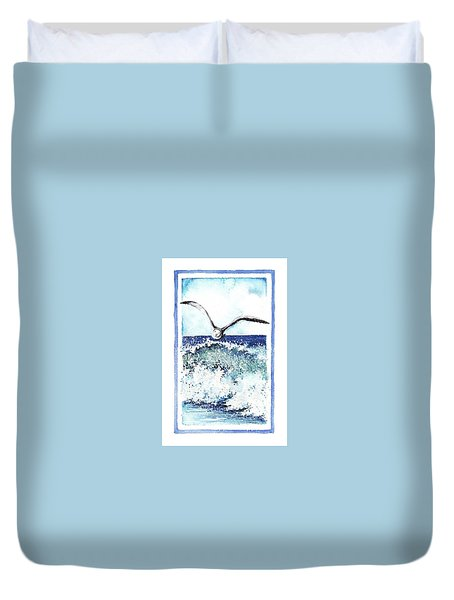 Duvet Cover featuring the painting Fly High by Heidi Kriel