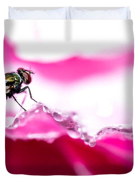 Fly Man's Floral Fantasy Duvet Cover