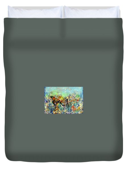 Fly Me Two The Moon Duvet Cover