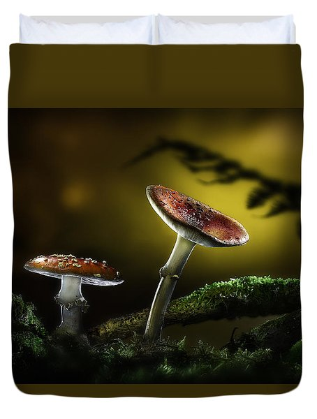 Fly Mushroom - Red Autumn Colors Duvet Cover