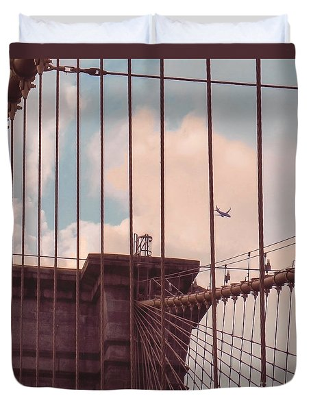 Fly Over Brooklyn  Duvet Cover