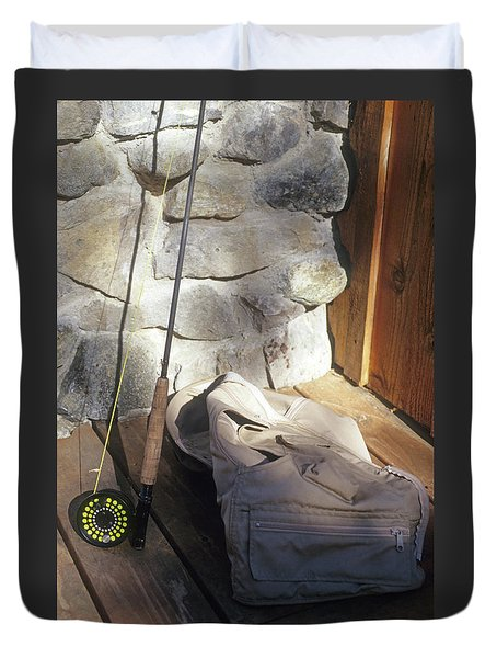 Fly Rod And Vest Duvet Cover