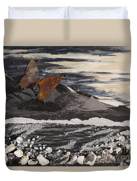 Fly Through A Troubled Sky Duvet Cover