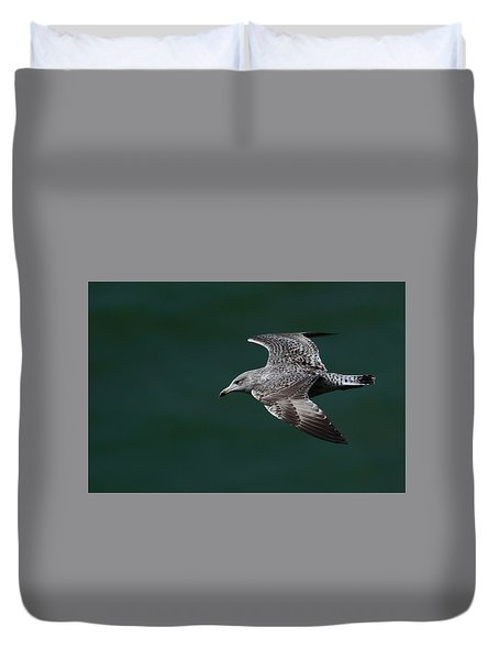 Duvet Cover featuring the photograph Flyby by Richard Patmore