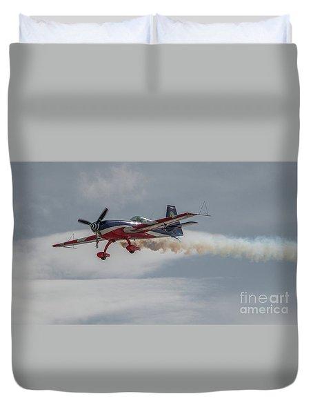 Flying Acrobatic Plane Duvet Cover
