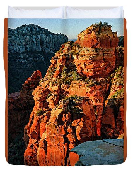 Flying Buttress 06-034 Duvet Cover by Scott McAllister