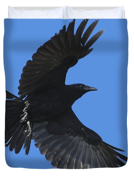 Flying Crow Duvet Cover