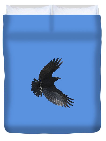 Flying Crow Duvet Cover by Bradford Martin