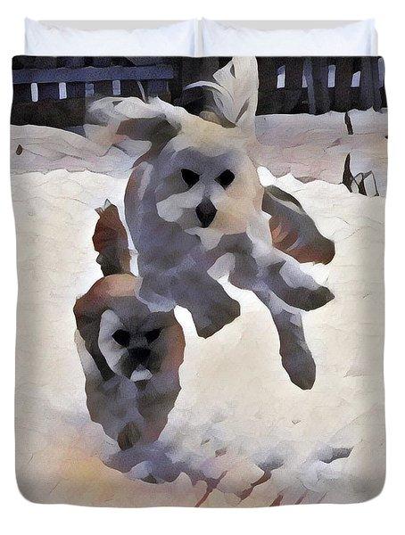 Flying Dog Duvet Cover