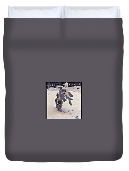 Flying Dog Duvet Cover