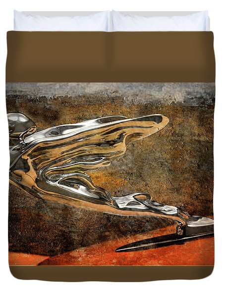 Duvet Cover featuring the digital art Flying Erol by Greg Sharpe