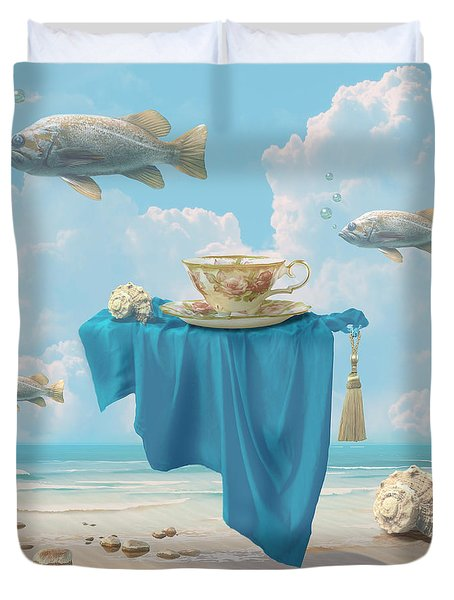 Flying Fish Duvet Cover